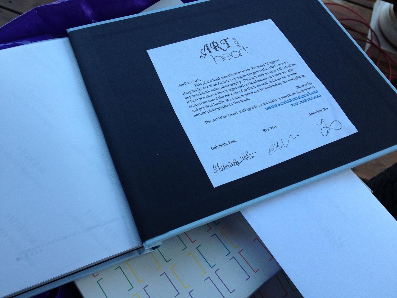 One of the photobooks bound for Princess Margaret Hospital.