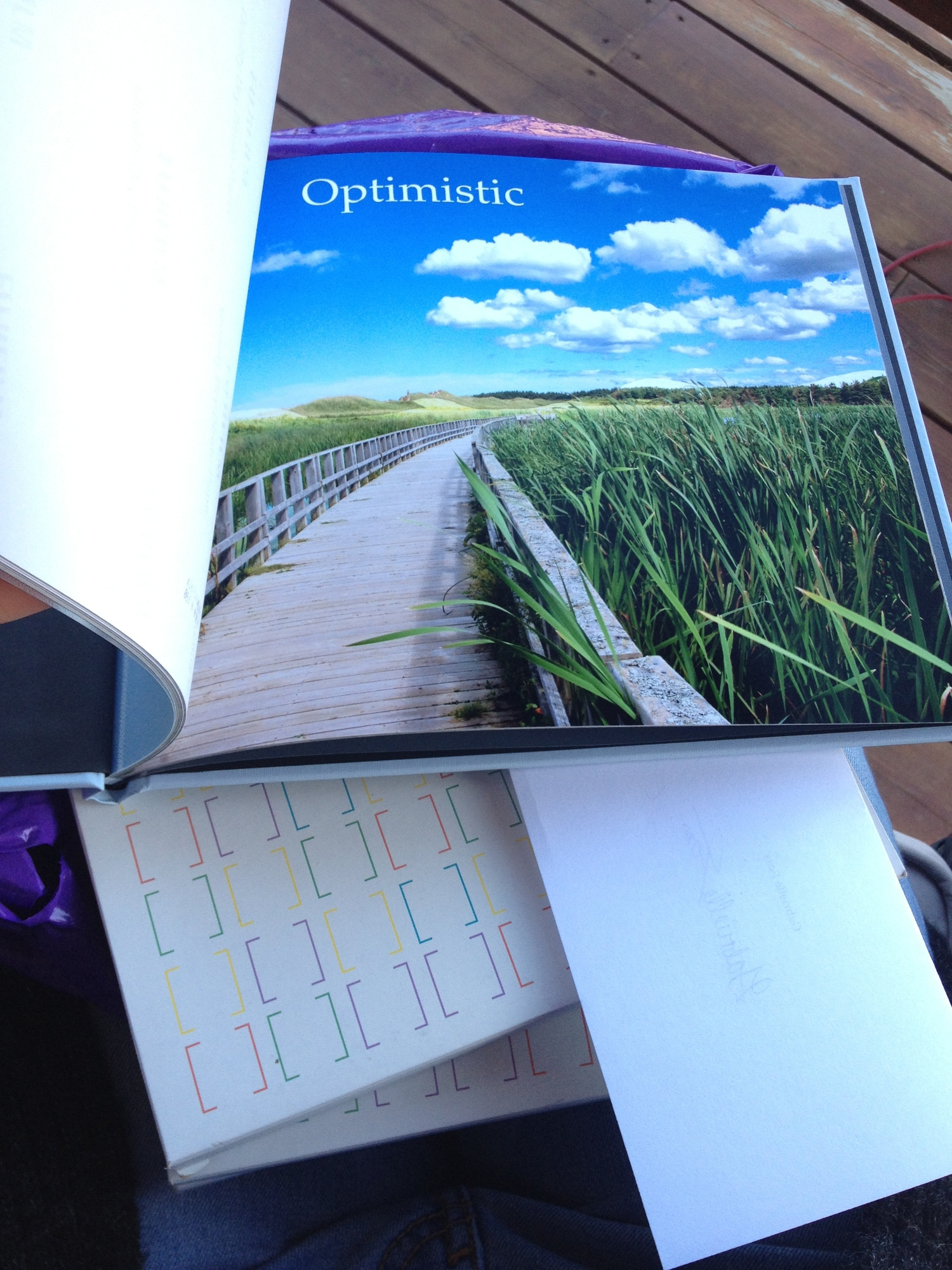 Another of the photobooks, displaying an image inside.