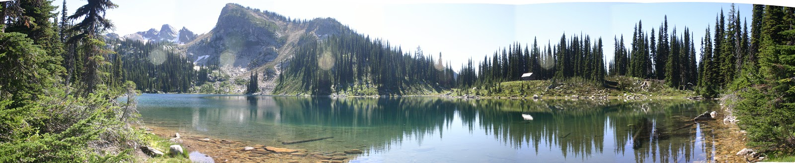 Eva Lake, Mount Revelstoke National Park. Panorama taken by Derek Leung.
