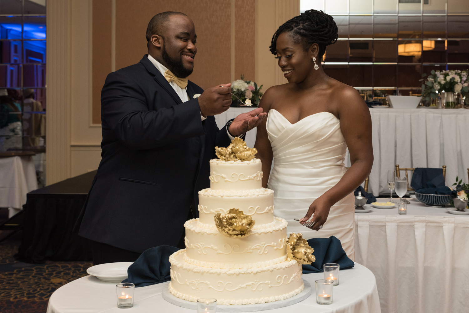 CAKE CUTTING - A symbol that you'll always provide for each other, and a great reason to show off your decorative wedding cake. Cutting the cake in front of your guests is the first task a married couple complete together.