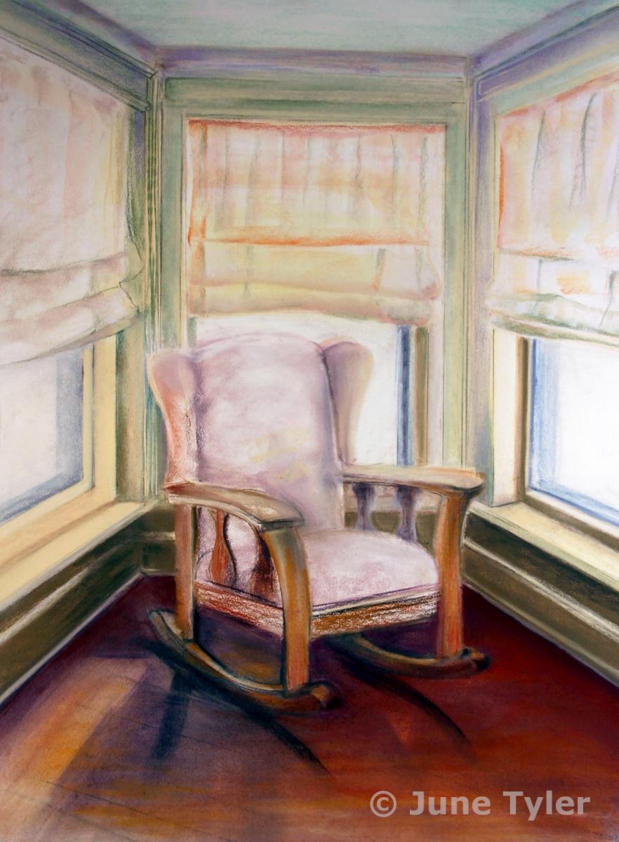 """""""Nancy's Grandma's Chair"""" 2003 22"""" x 30"""""""