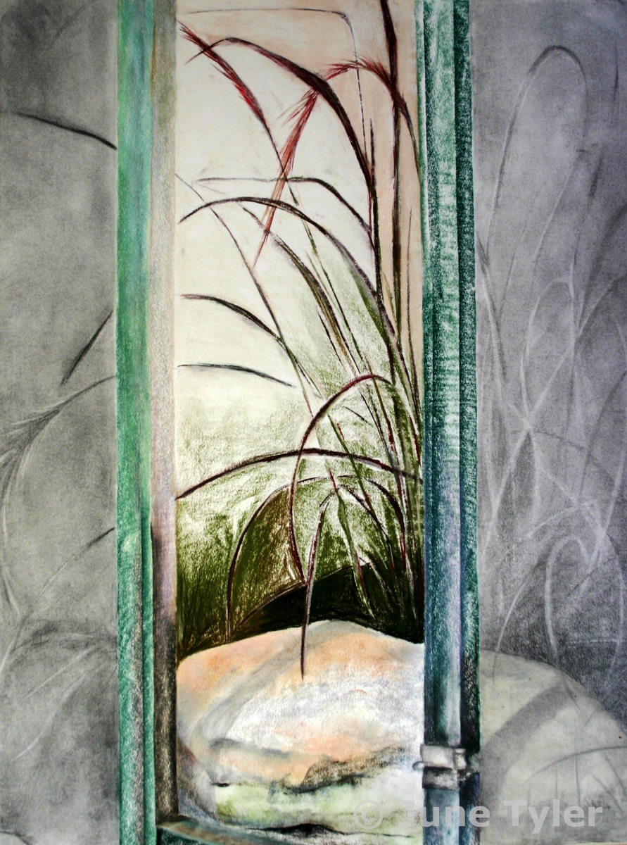 """Summer Meditation"" 2003 Pastel and Graphite Drawing 22"" x 30"" private collection (Alicia)"