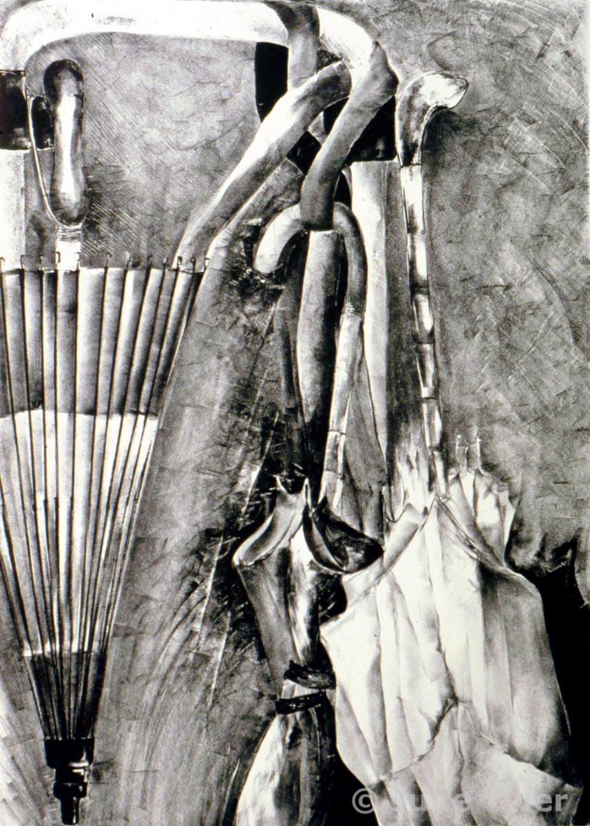 """""""Group Portrait"""" 1987 28"""" x 22"""" Lithograph"""