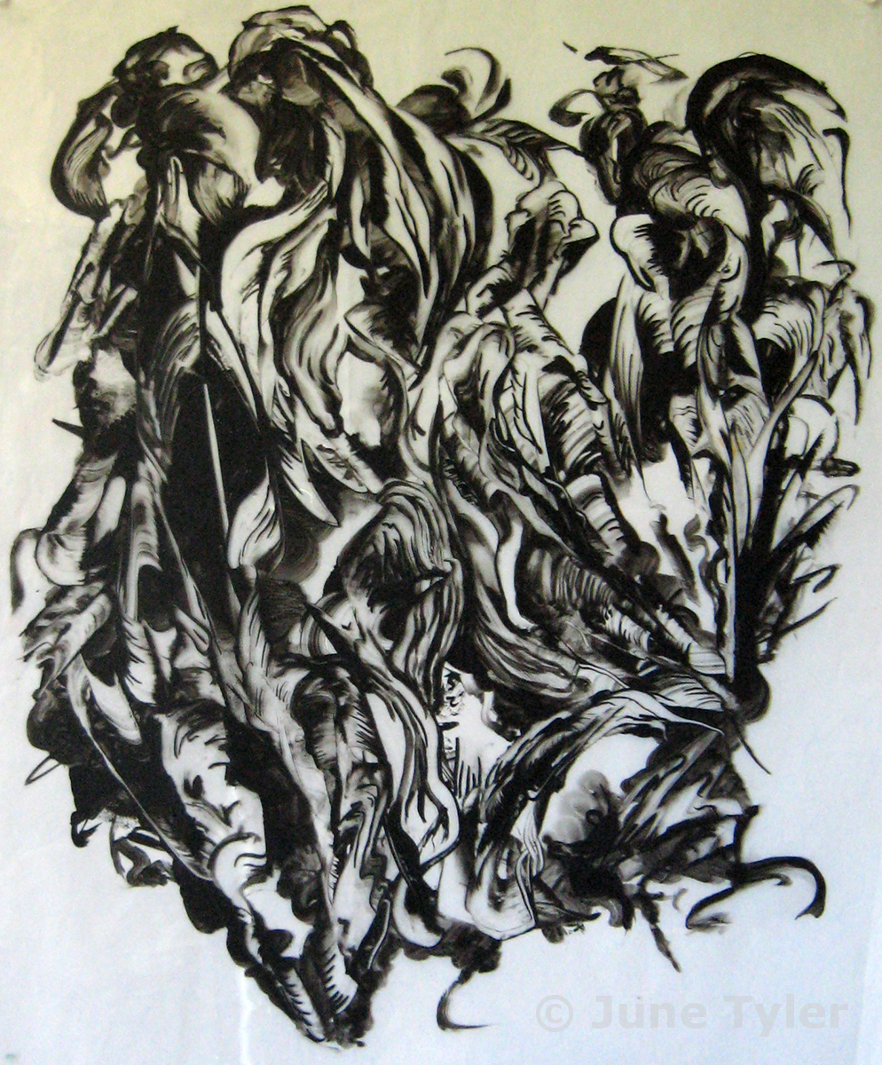 "Untitled approx. 1990 Ink drawing on mylar 13.25"" x 11"" (image size)"