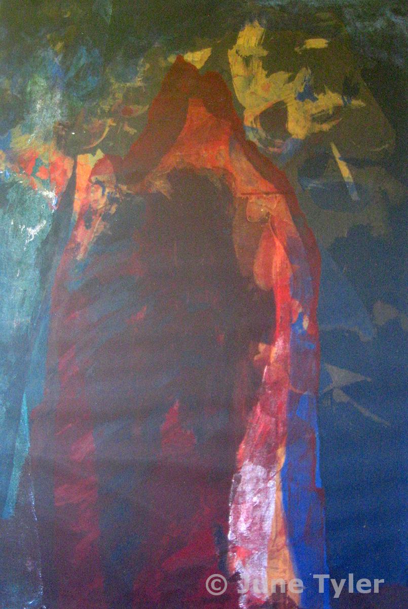 """""""Cave series"""" 1989 Silkscreen monoprint 22.5"""" x 15 1/8"""""""