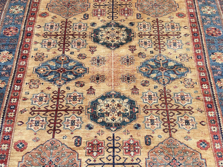 Afghan Kazak Carpet 3 01m X 2 02m