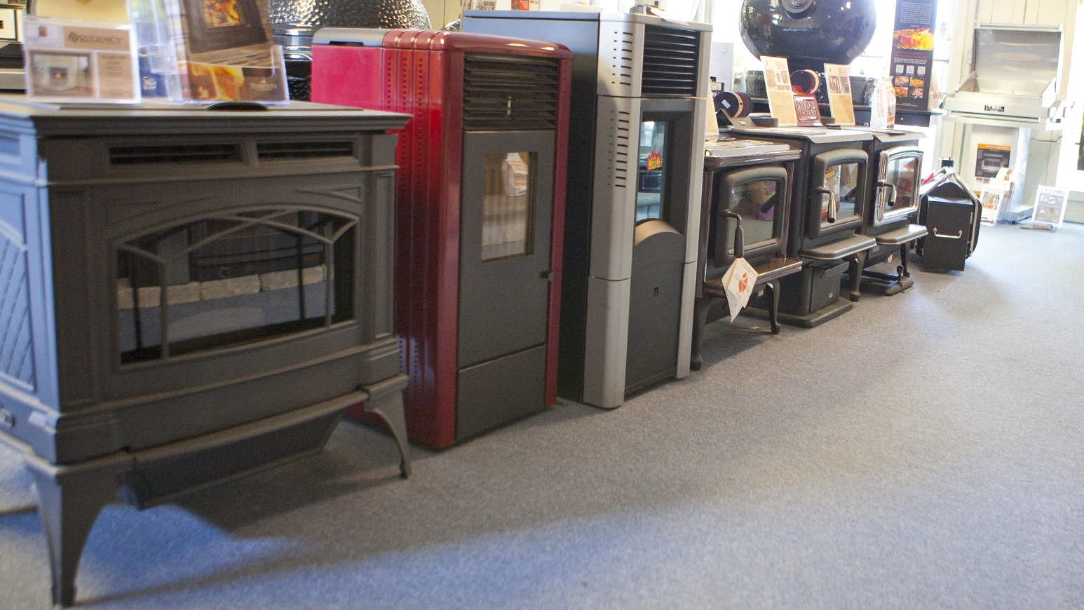 Stainless Steel and Cast Iron Wood Burning Stove Models