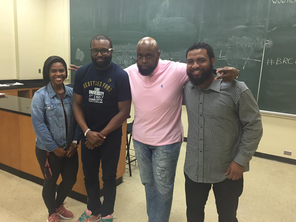 That moment when former students are in town for CIAA and all stop by your class to speak to current students impromptu