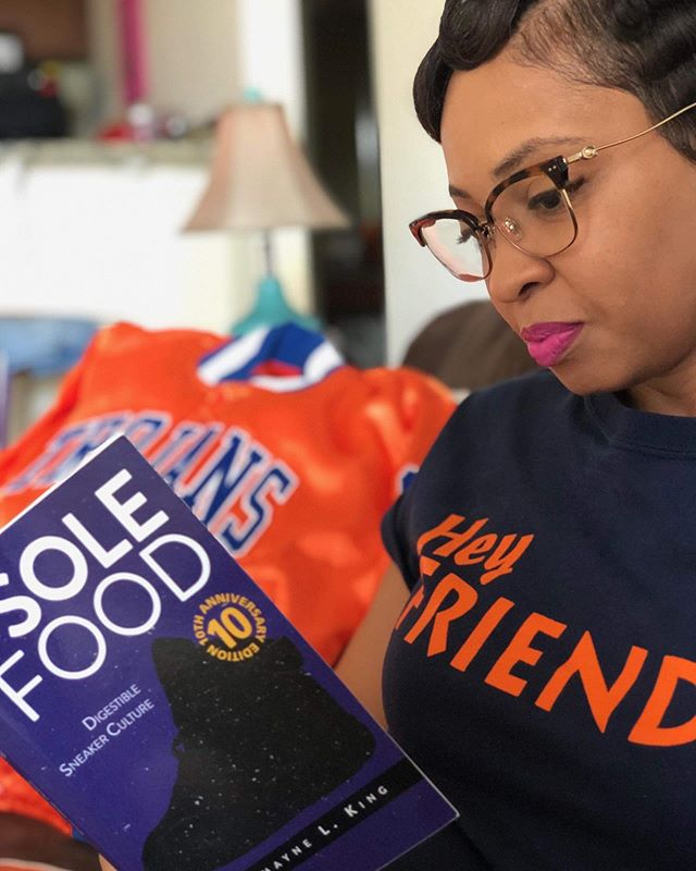 Sole Food: Digestible Sneaker Culture is available where all fine books are sold and is also available via solefoodbrand.com.  Hair: @kaaatwalk  Model: @alexiacheirelle 📸 credit: @khizman  #vsutransforms #solefoodback solefoodbrand.com