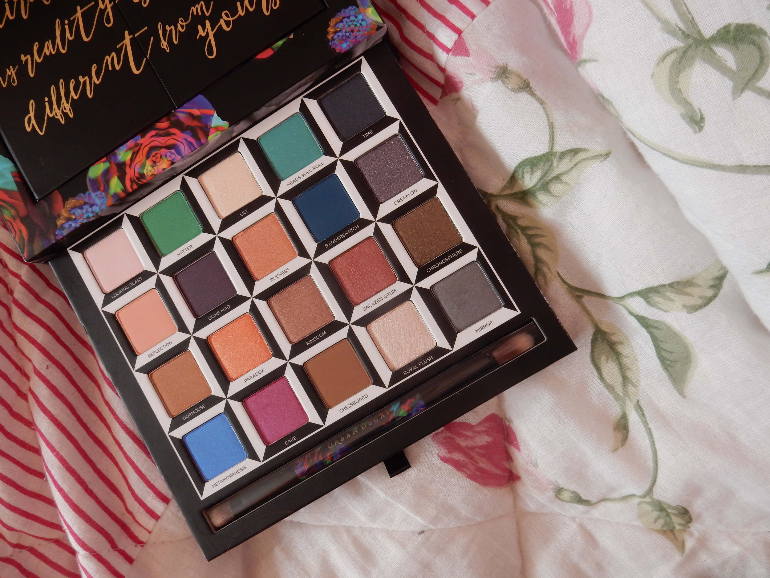 beauty blogger urban decay alice in wonderland palette review