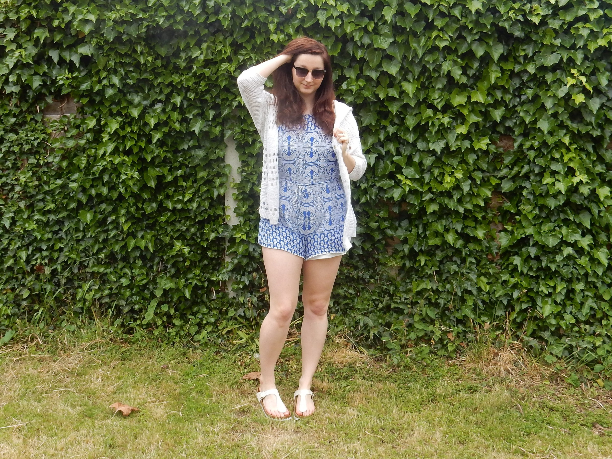 Conquering curvy playsuit ootd