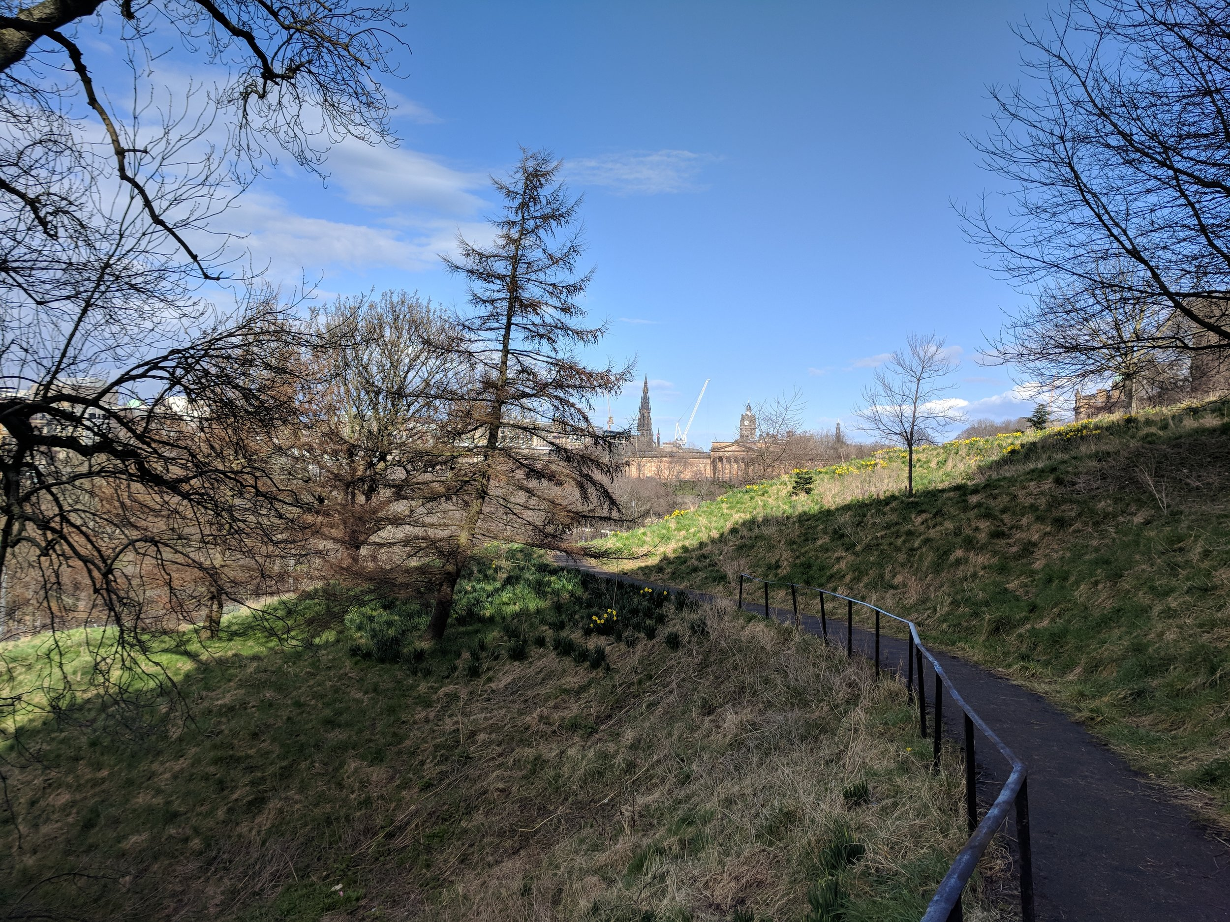 The walk up to Edinburgh Castle