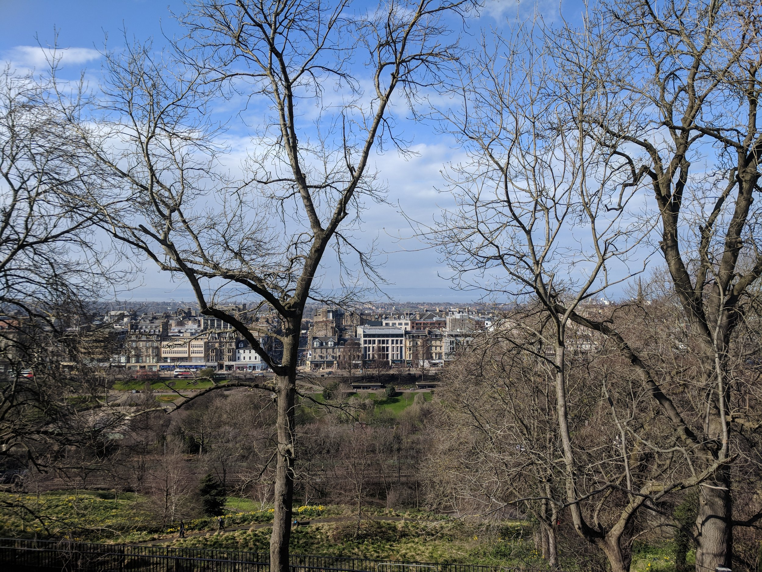 The view over Princes Street Park and New Town