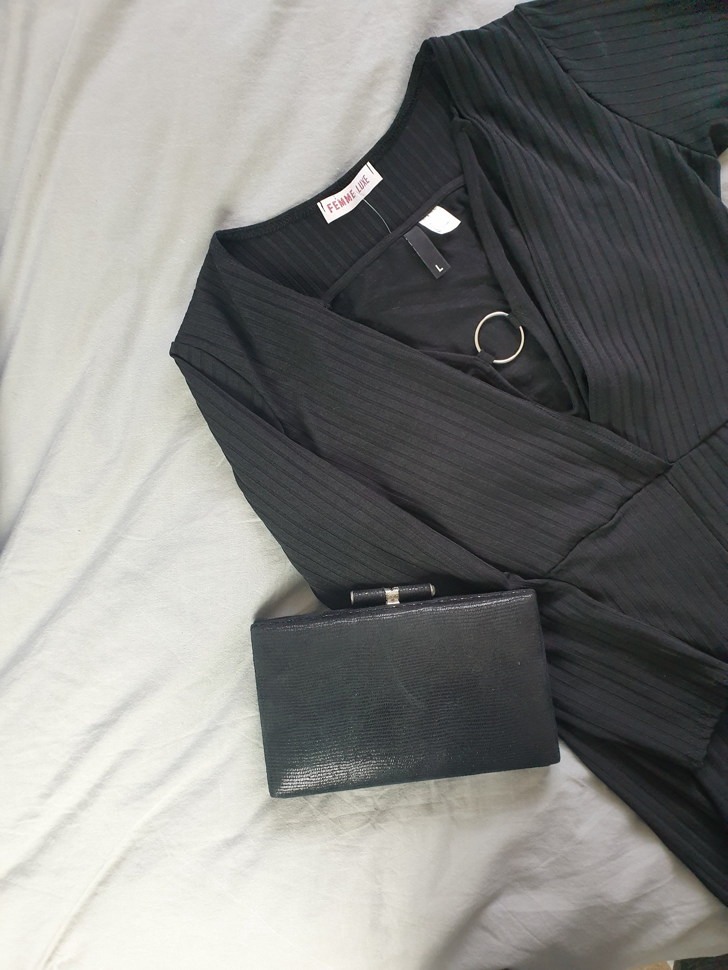 fashion blogger bad girl inspired ootd outfit of the day https://femmeluxefinery.co.uk/collections/jumpsuits/products/black-slim-belted-jumpsuit-teagan