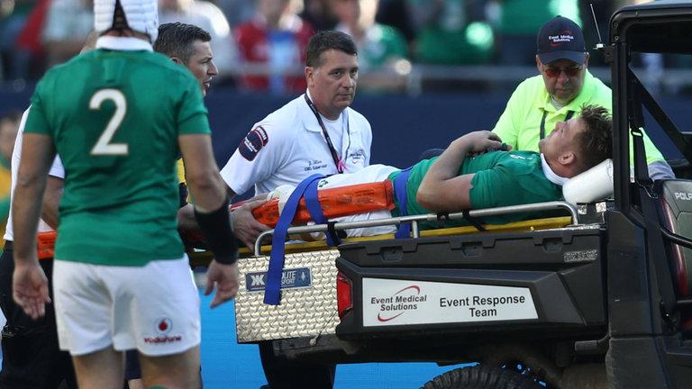Jordi Murphy tears his ACL versus New Zealand in 2017