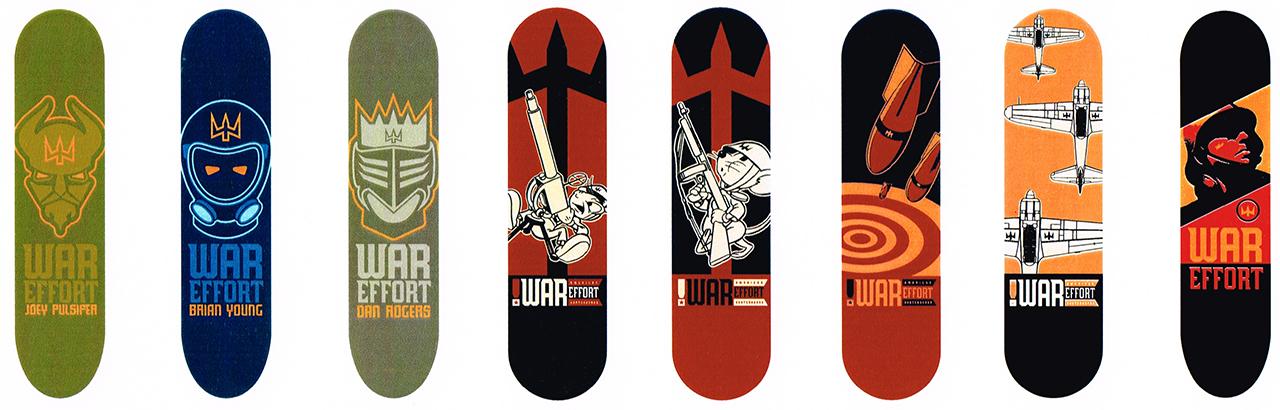 Deck Graphics For War Effort Skateboards