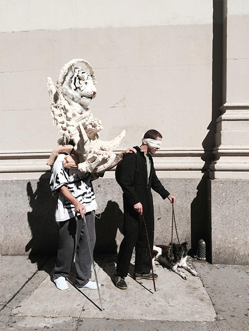 Seeing Eye Tiger , 2015 Performance at AIOP Recall, New York by Irvin Morazan