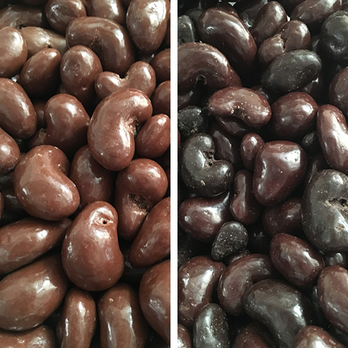 Chocolate Covered Cashews    Available in milk and dark chocolate