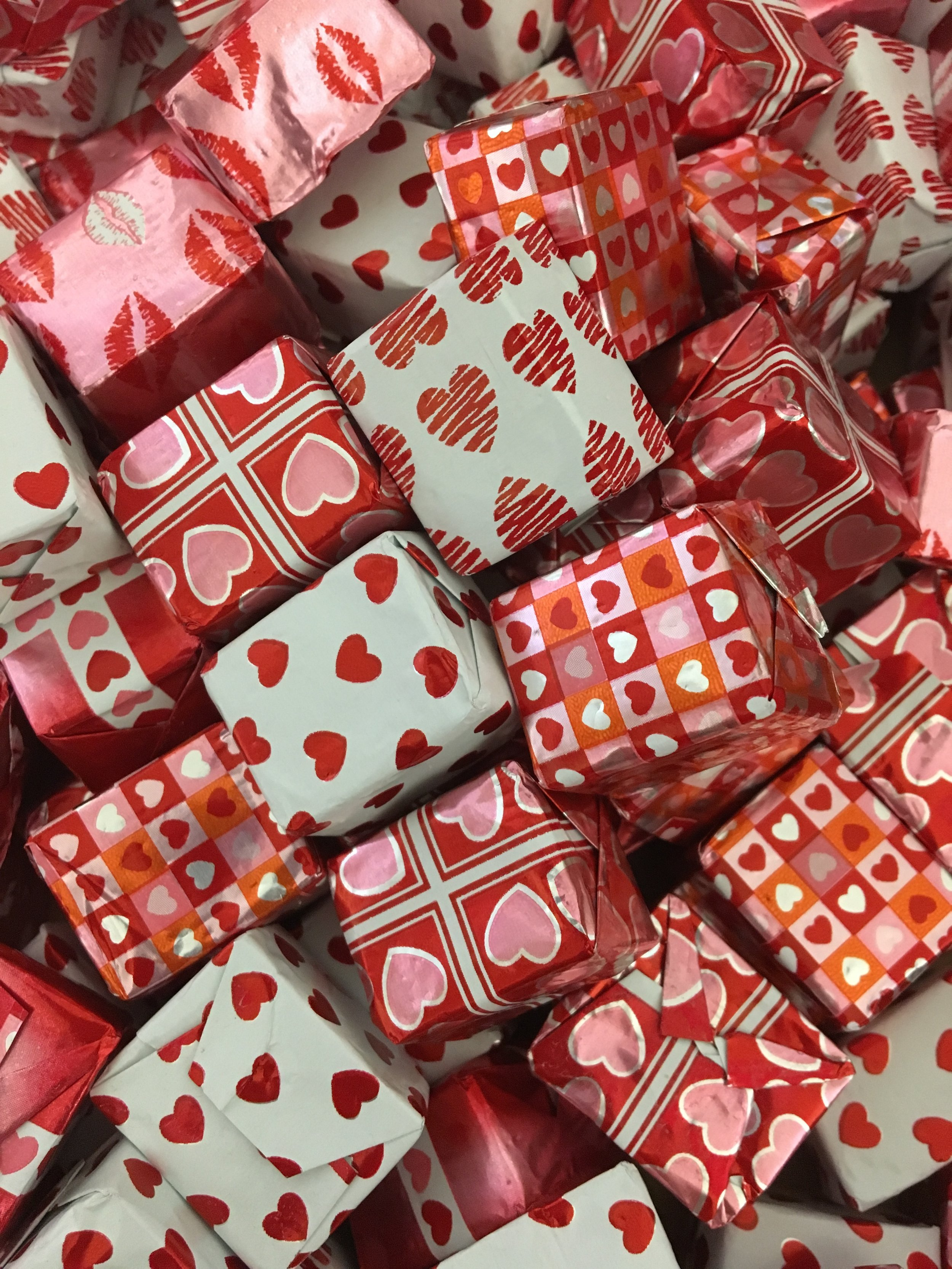 Valentine Presents   Available in milk chocolate    1 lb. - $14.95 1/2 lb. - $7.50 1/4 lb. - $3.75