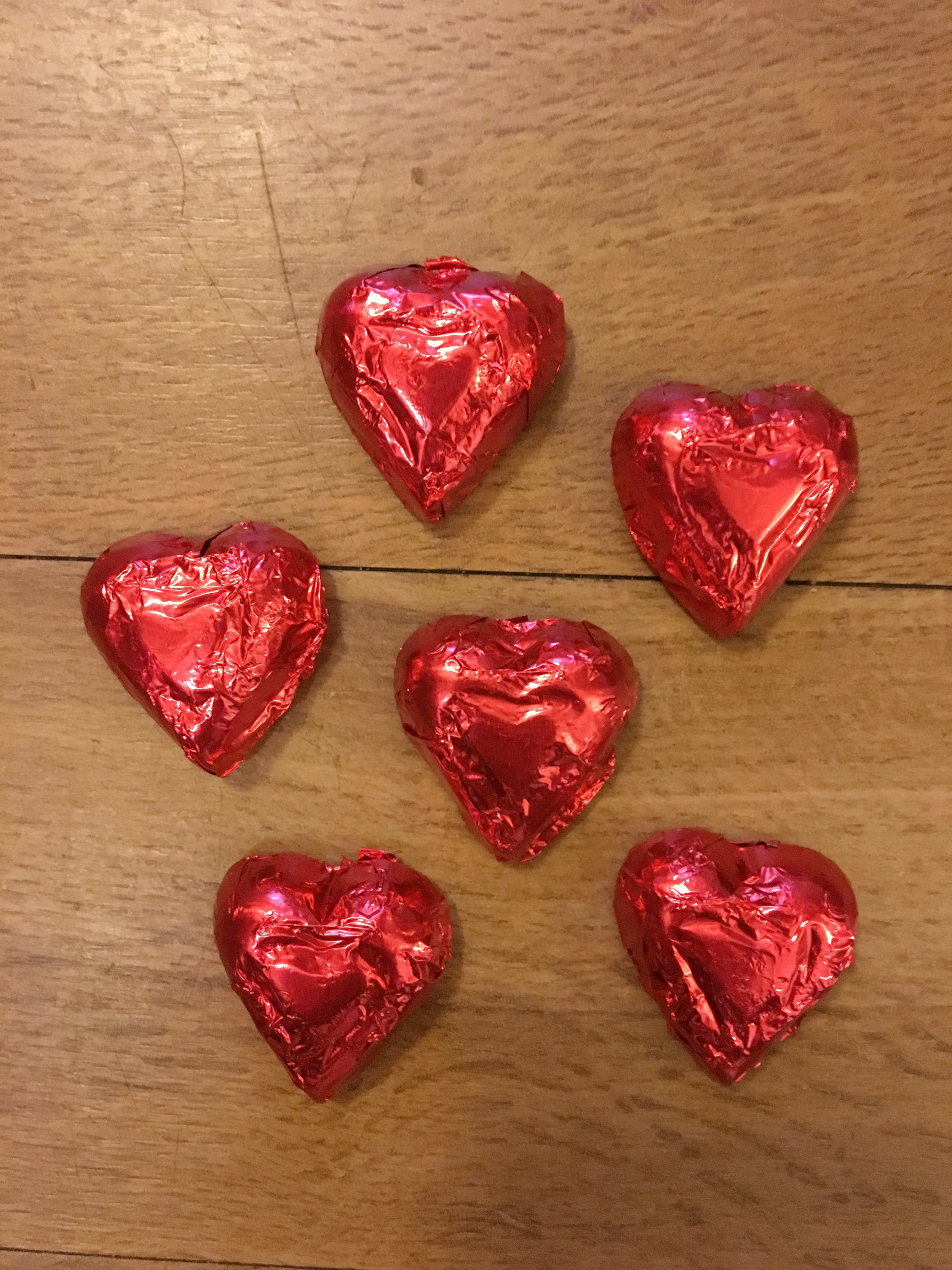 Red Hearts   Available in milk chocolate    1 lb. - $14.95 1/2 lb. - $7.50 1/4 lb. - $3.75
