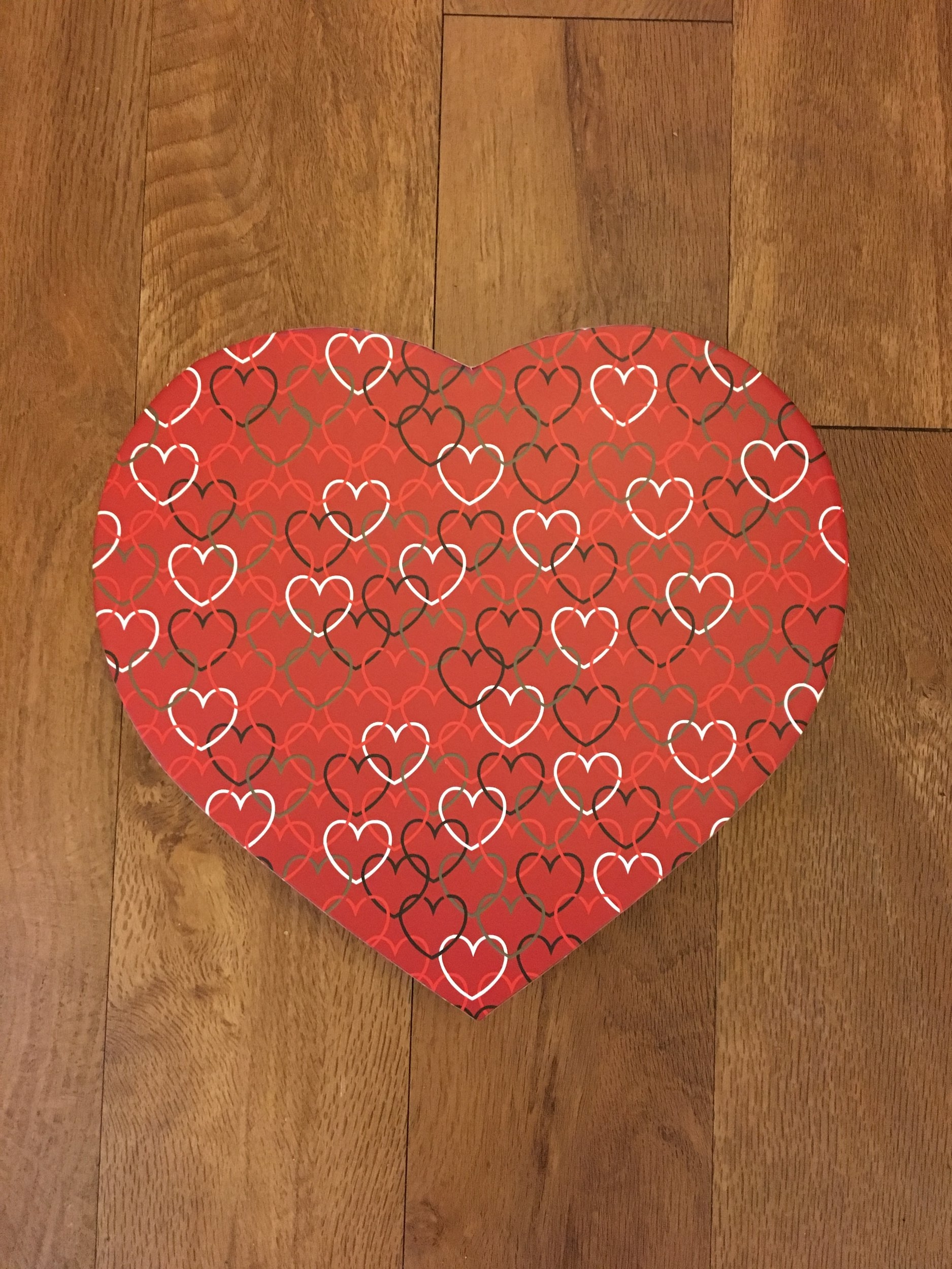 Red Linked Hearts Box   1 lb. box - $10.95  (Does not include candy)