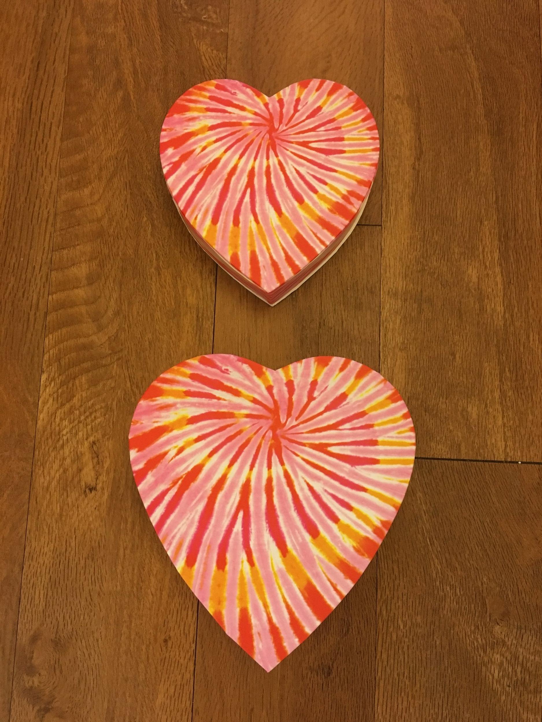 Tye Dye Heart Box   1/2 lb. box - $5.75 4 oz. box - $4.50  (Does not include candy)
