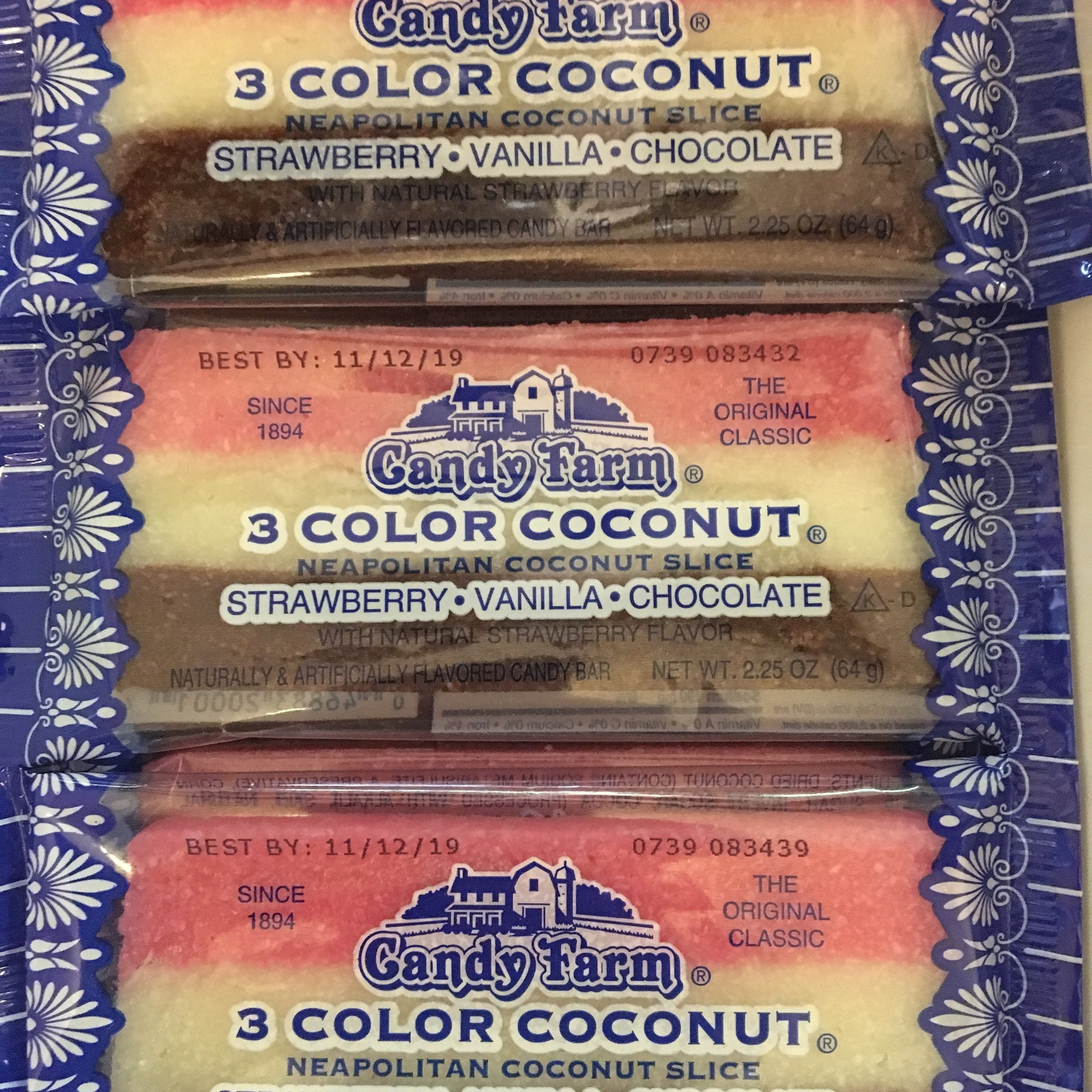 Neapolitan Coconut Slices