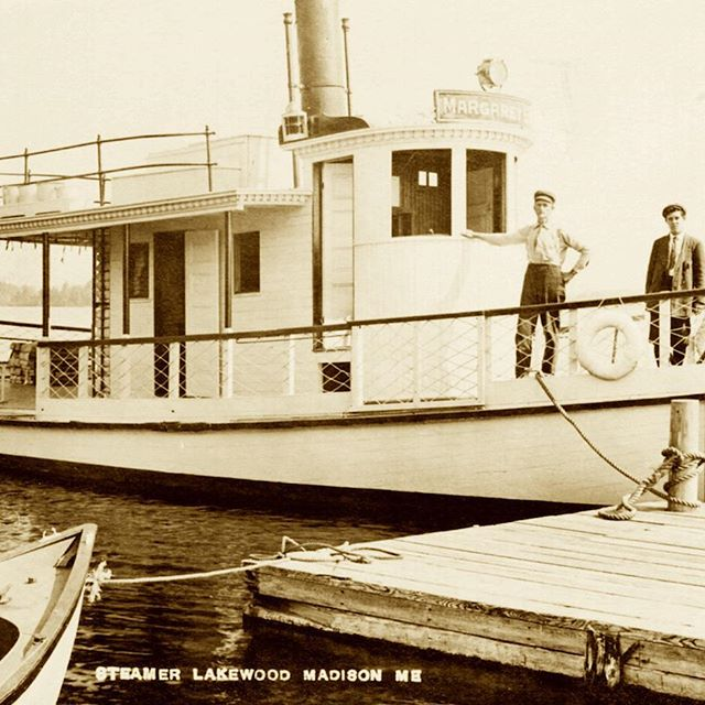 """""""Grandest Water Spectacle Ever Attempted"""" is my #newblogpost about #Maine 's Lakewood Theater.  August 15, 1922, the steamer Margaret B was blown up in a wildly popular publicity stunt at Lakewood... http://bit.ly/GrandWaterSpectacle #mainehistory #broadwayhistory #vintagepostcard #vintageimage"""