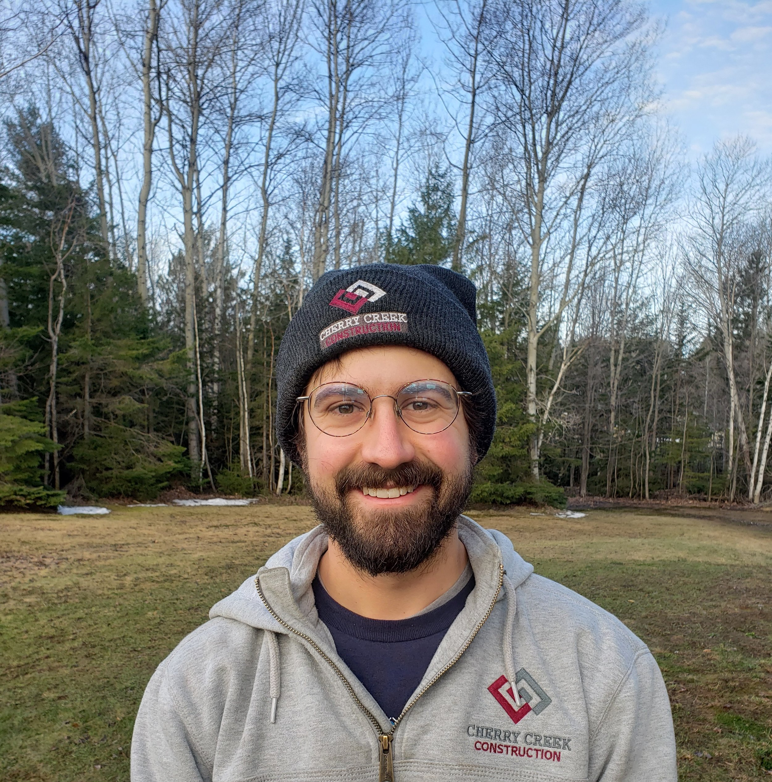 Isaac Behrens - Isaac, carpenter, has lived in many states but now calls the U.P. home. When he's not working for CCC, he and his wife operate Cloverland Farms where they raise chickens, ducks, sheep, and pigs.