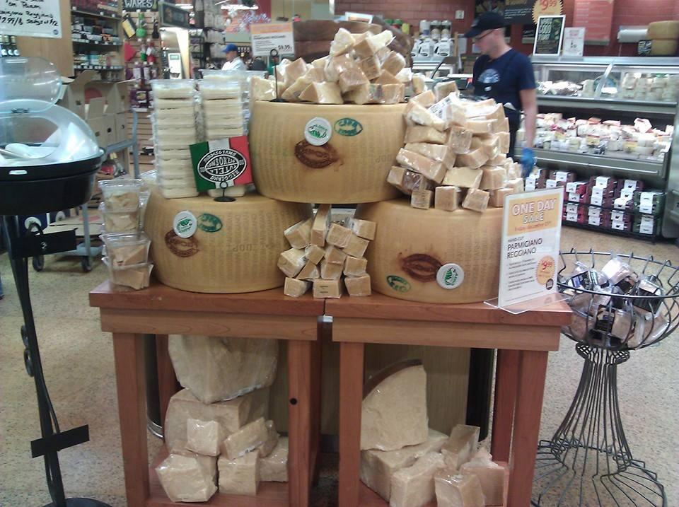Parmigiano Reggiano display