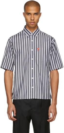 Striped 'Ami de Coeur' Shirt, ($159) by AMI
