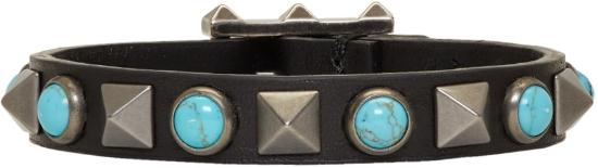 Garavani Leather Rolling Rockstud Bracelet ($137), by Valentino