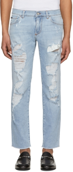 Faded Ripped Jeans ($546), by Dolce & Gabbana
