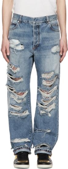 Baggy Destroy Jeans ($270), by Balmain