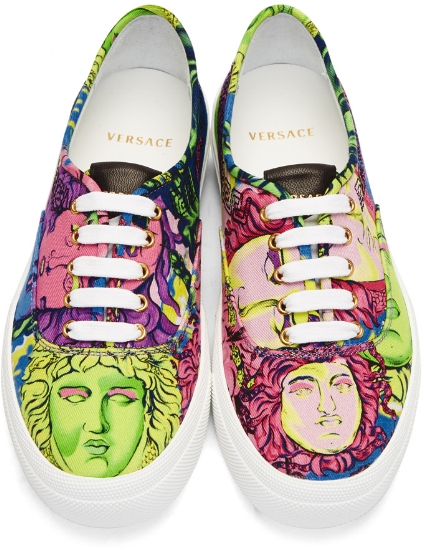 Multicolor Medusa Sneakers ($625), by Versace