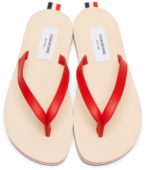 Leather Flip-Flops ($230), by Thom Browne