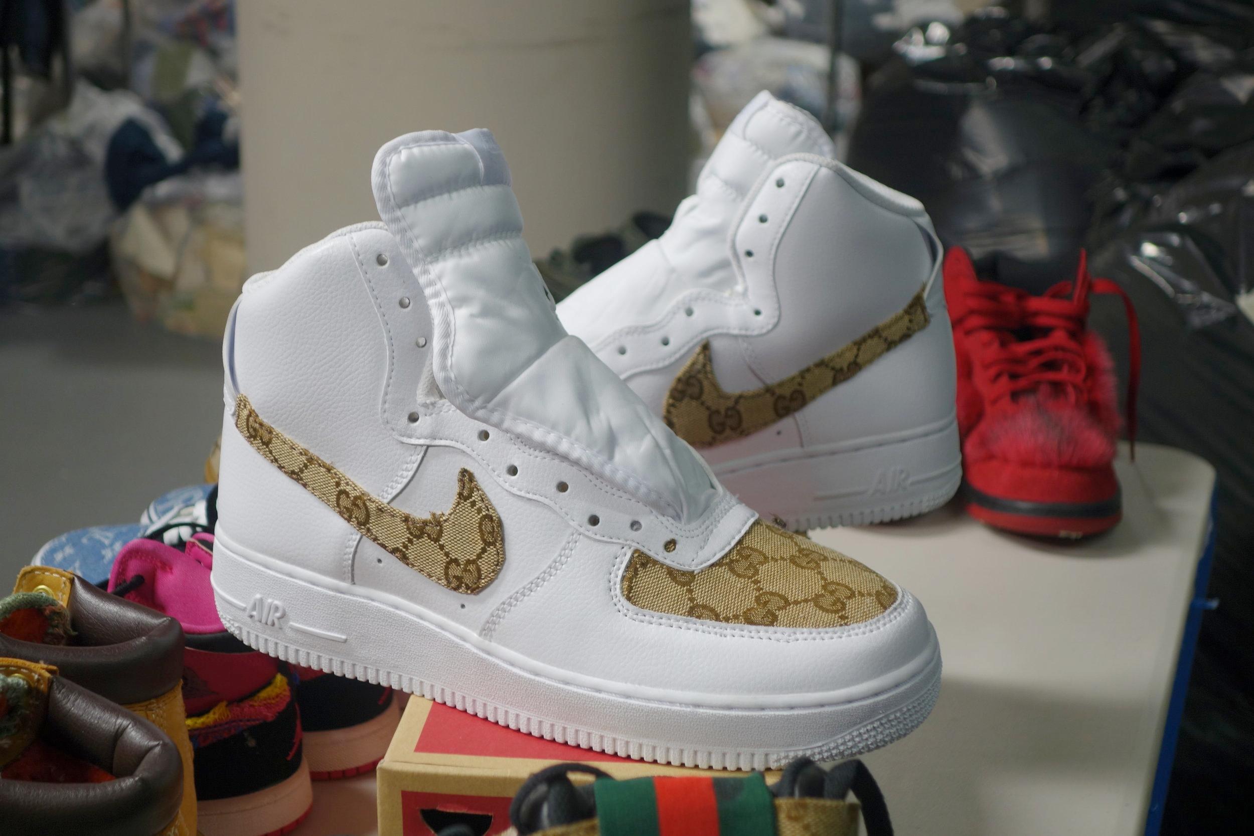 Custom made AF1 sneakers by Royal Vision.
