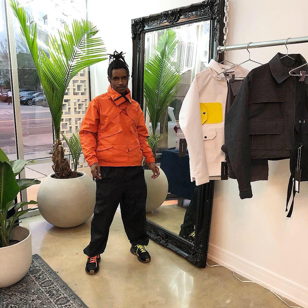 Orange Track Jacket designed by Jackson Napier