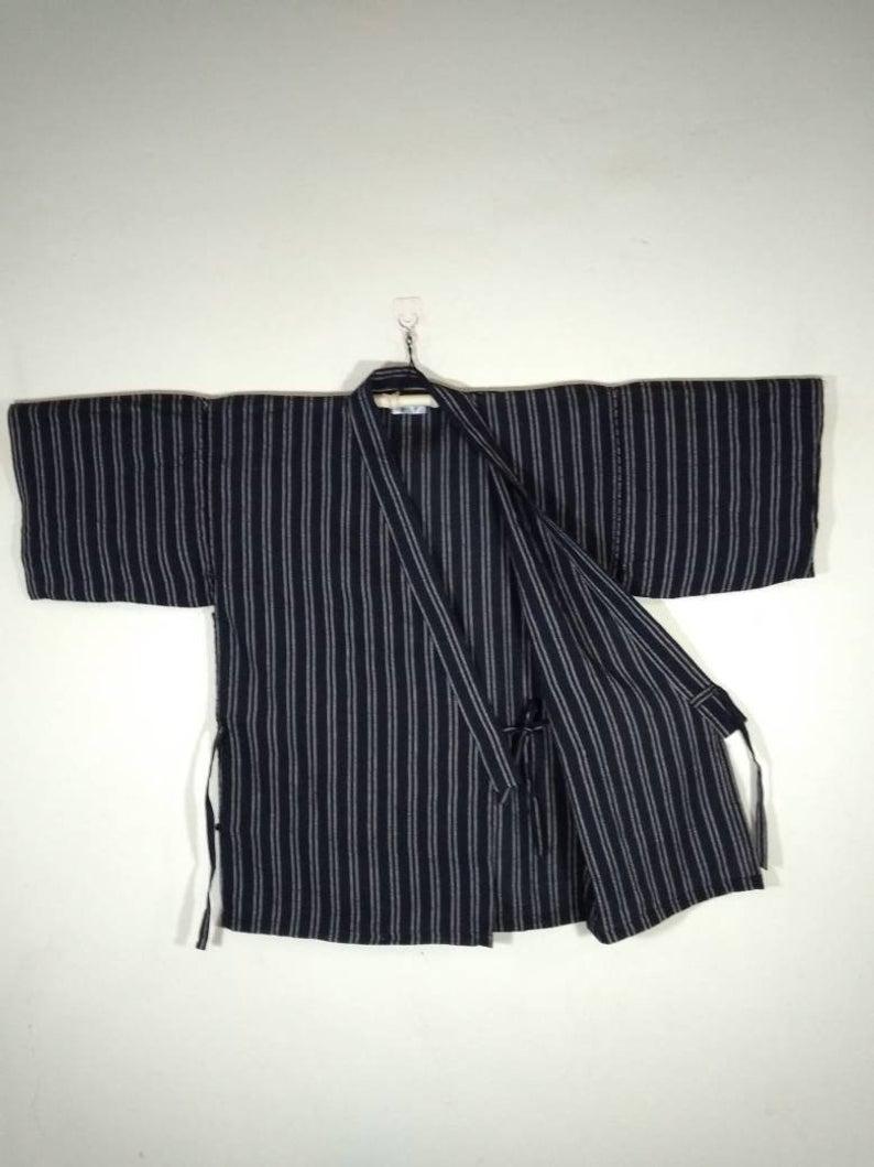 Haori Jinbei Kimono Jacket - HannahThriftStore, $20