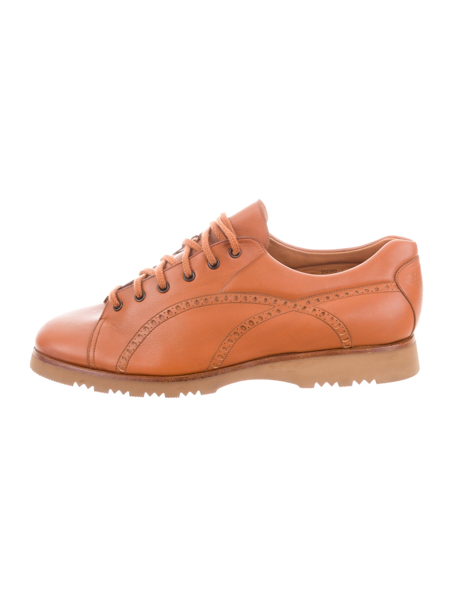 Leather Round-Toe Sneakers - J.M. Weston $97.50