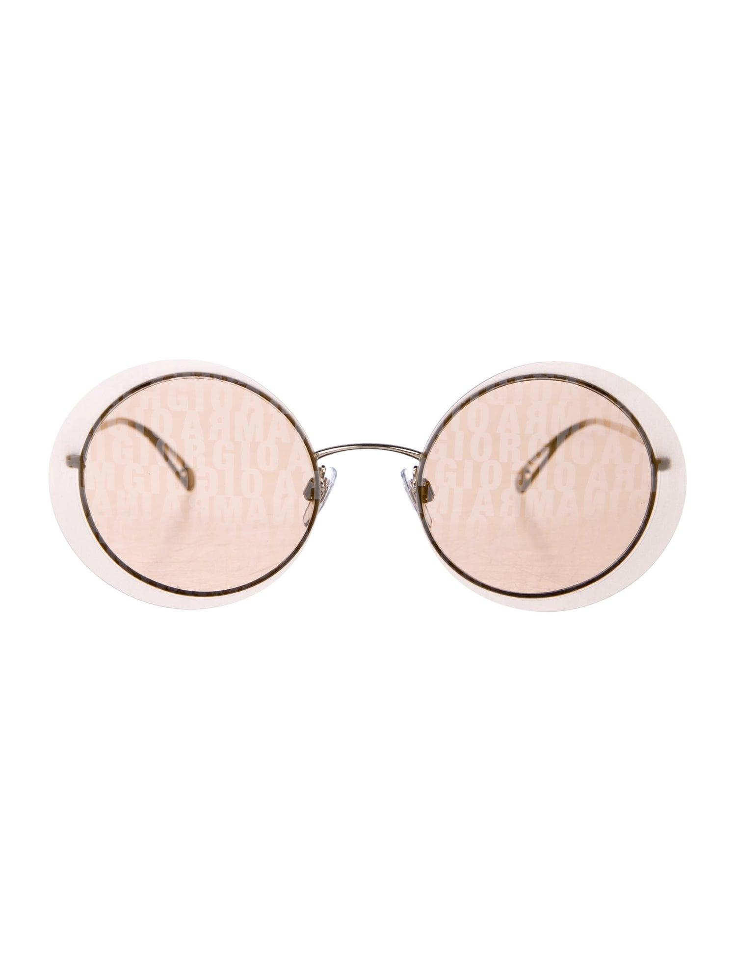 Round Logo Sunglasses w/ Tags - Giorgio Armani, $145