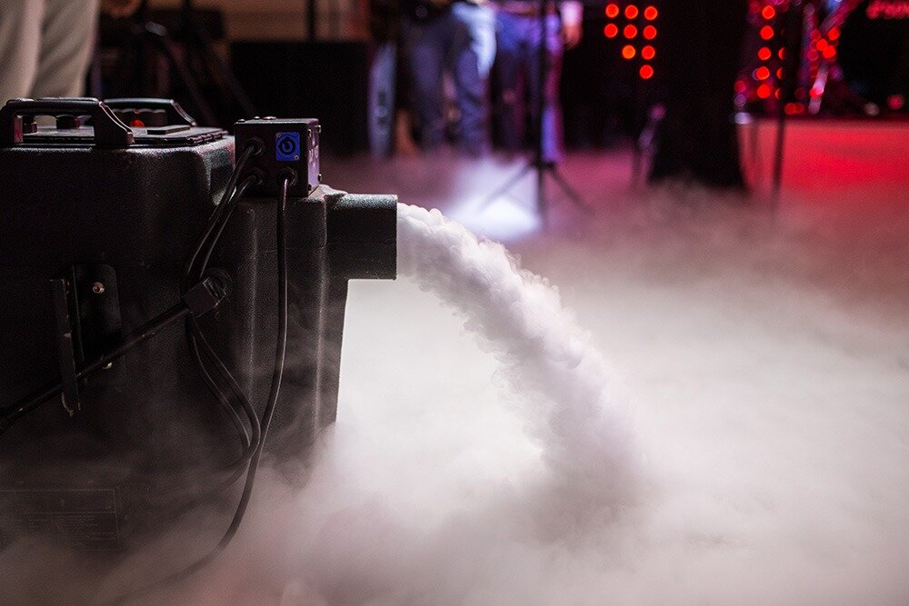 DRY ICE - This dry ice machine creates a dancing on the clouds effect.Add it to your package for your first dance. Dry ice flows out across the dance floor and stays at below knee level.
