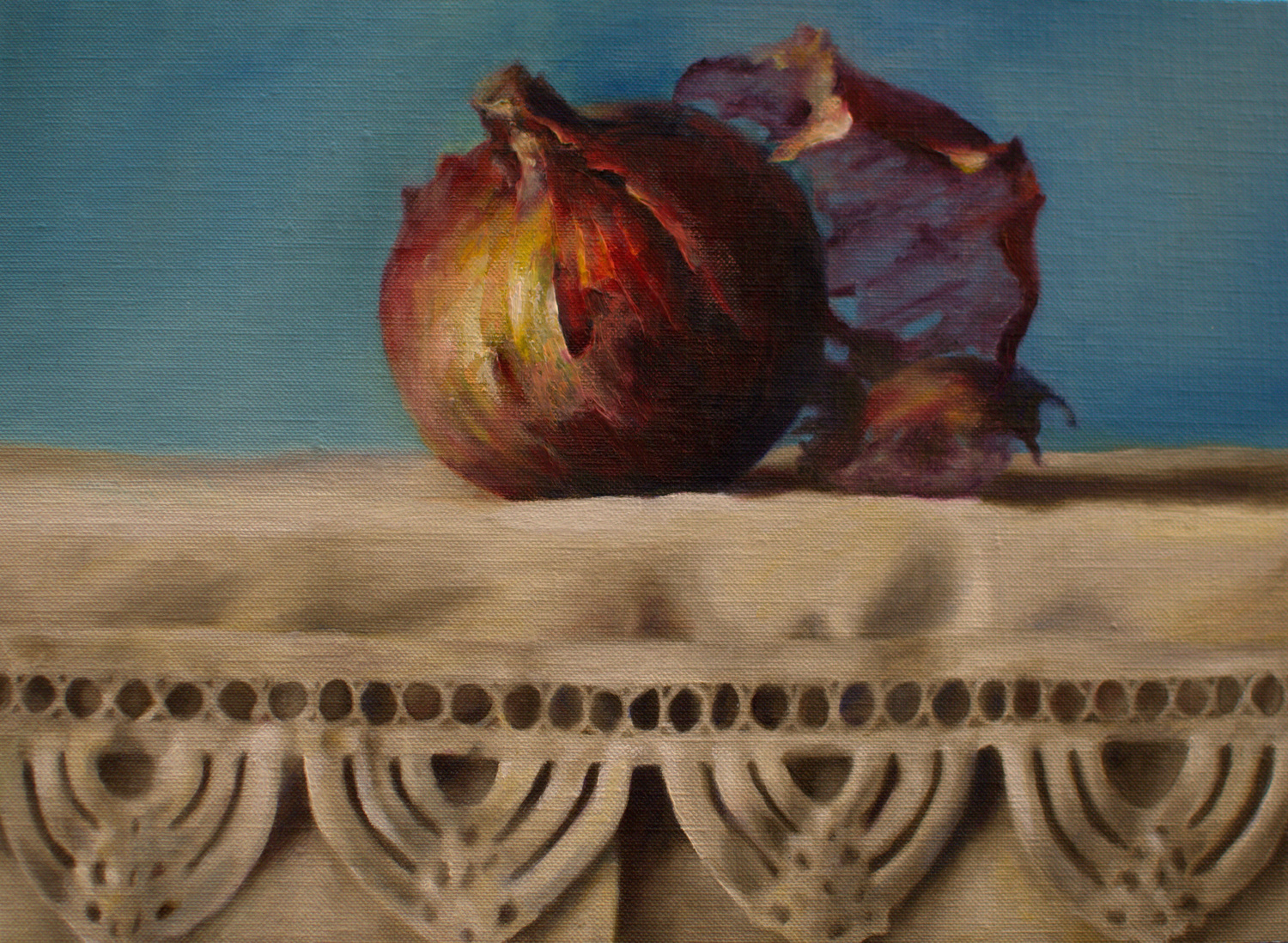 'The onion' oil on linen board