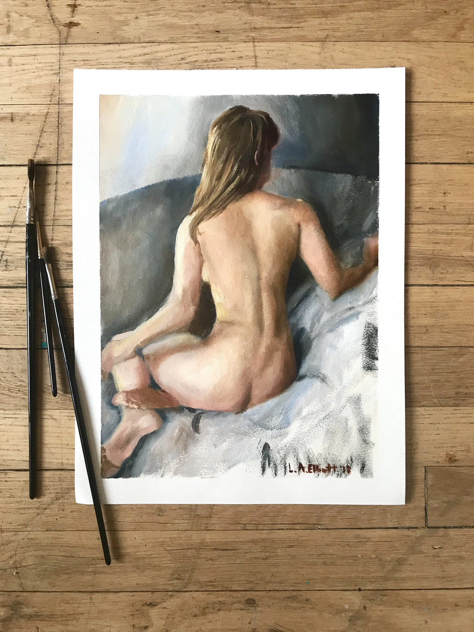 Figure Oil Sketch