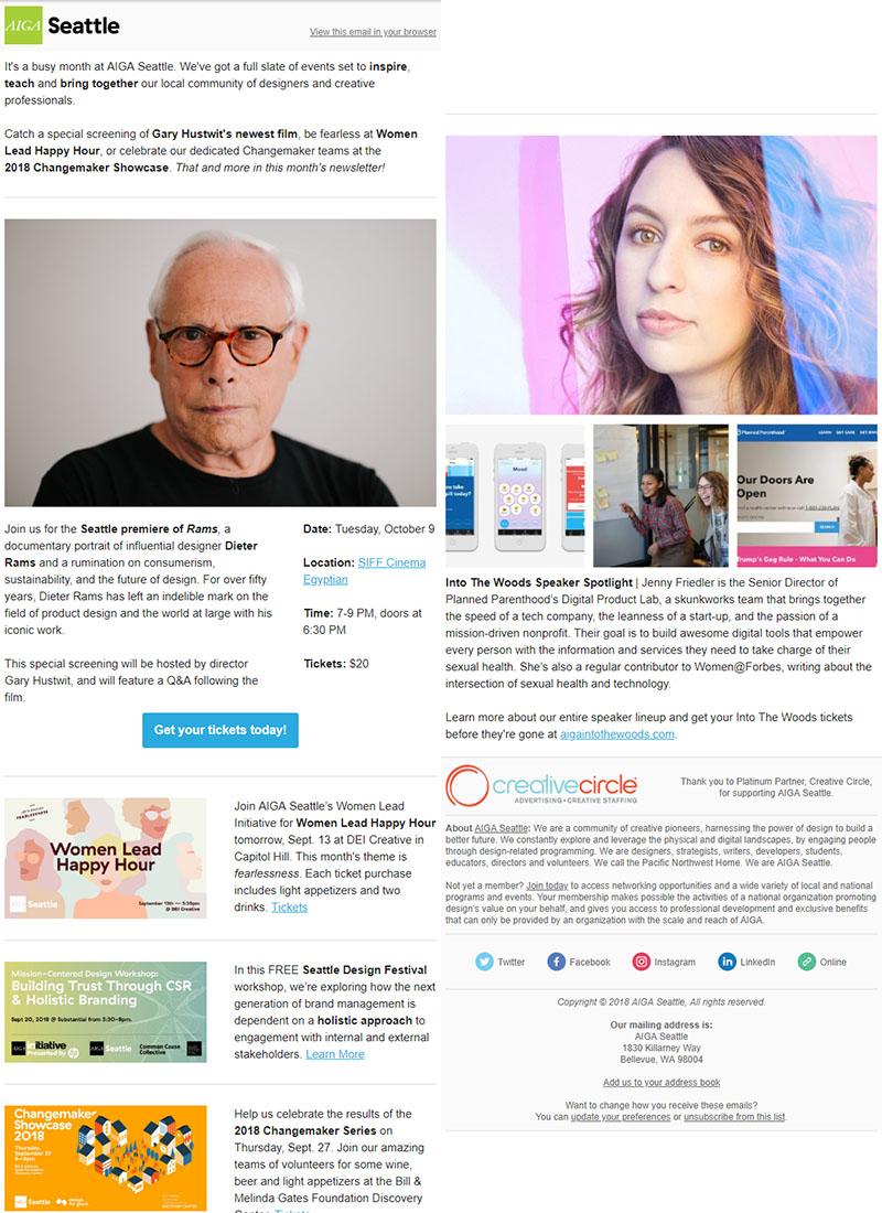 AIGA Seattle E-newsletter