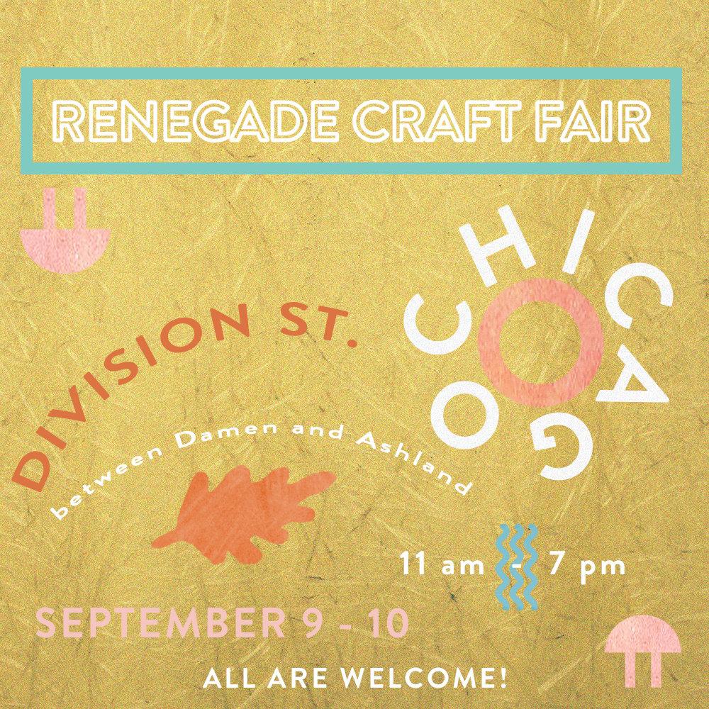 Renegade Craft Fair Chicago September 2017