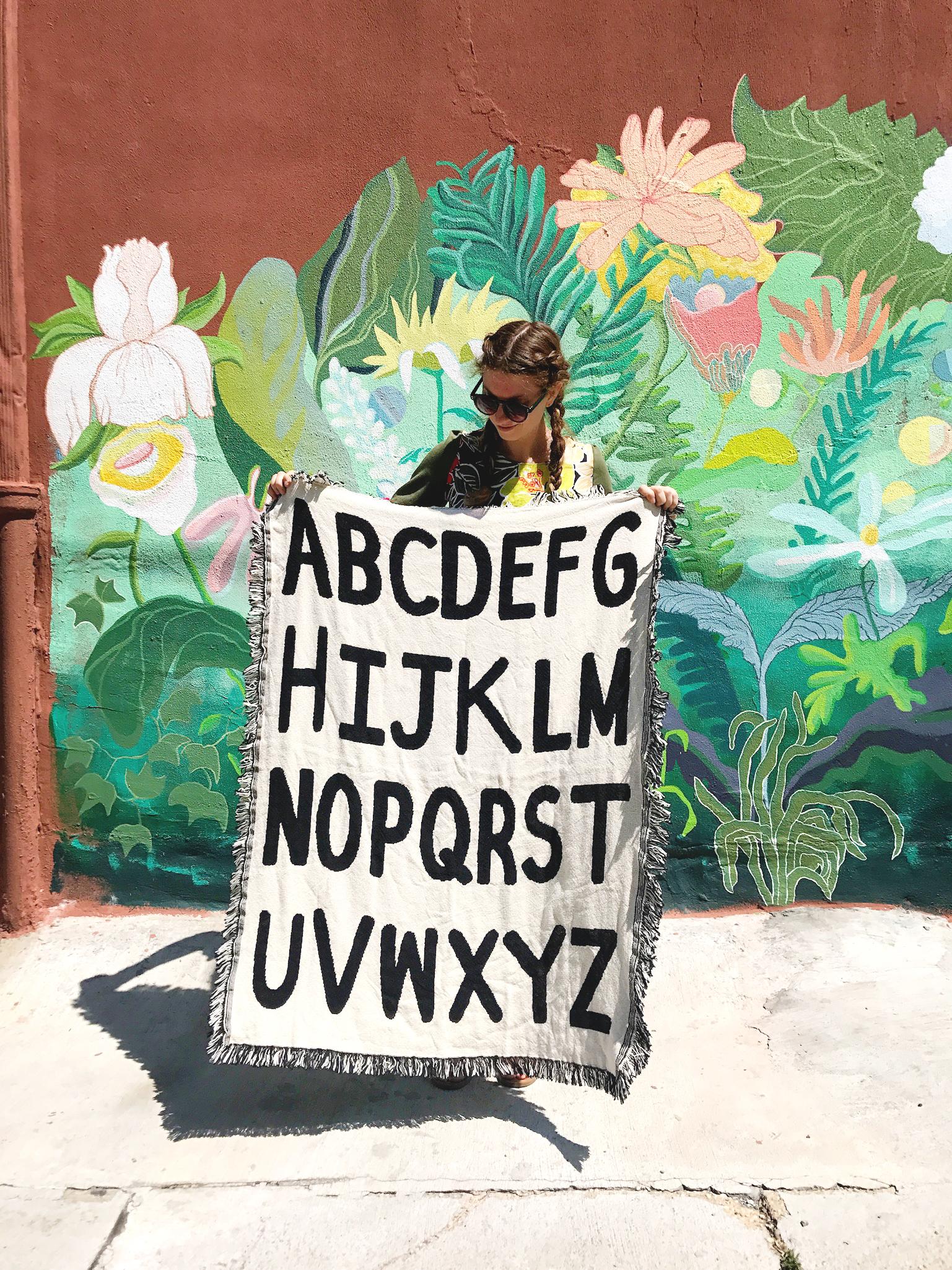 Calhoun & Co. Mini Alphabet Throw Blanket - Black & White Public Supply Giveaway