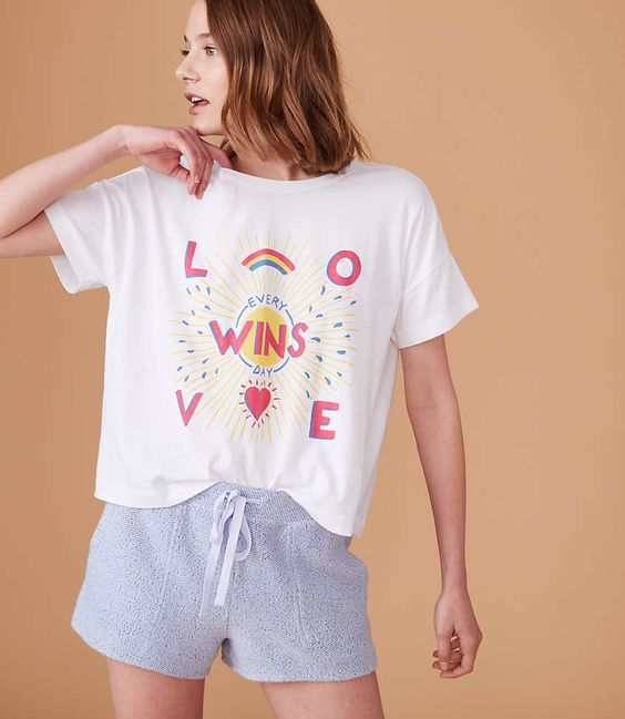 Calhoun & Co. x Lou & Grey Love Wins Every Day Rainbow t-shirt
