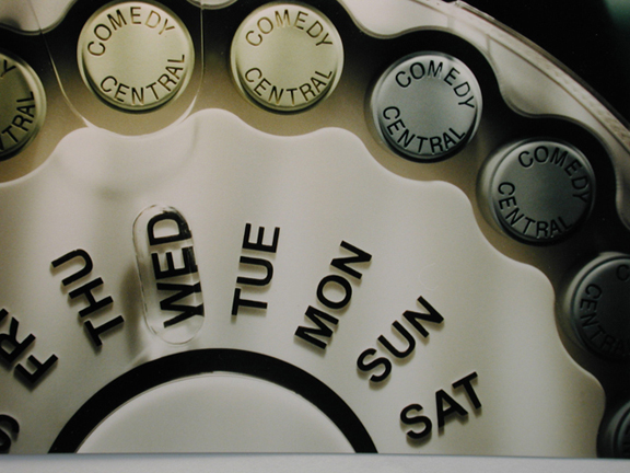 4' pill dispenser for Comedy Central