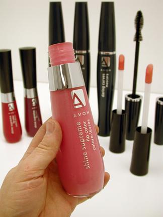 Giant Avon cosmetic models